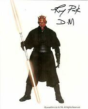 Signed Ray Park autographed color 8x10 Darth Maul STAR WARS