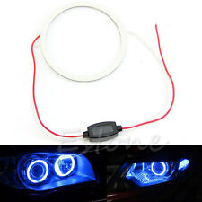 80mm Blue COB Car Angel Eye LED Chip Light Headlight Halo Ring Lamp