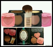 Too Faced Beautifully Blushed & Bronzed Deluxe Set NIB Chocolate Soleil Bronzer