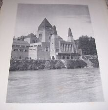 1911 HUNGARIAN PAVILION TURIN (View from River) E Tory M Pogany Print Architects