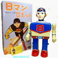 Super Hero 8 Man Robot a/k/a Eighth Man Super Hero Tin Toy Yonezawa
