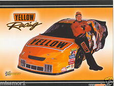 Jimmy Spencer 2002 Race Car Driver Picture Racing signature card NASCAR Yellow