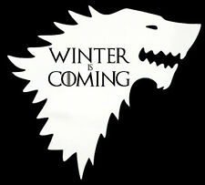game of thrones white STARK winter is coming wolf decal car sticker 5.5x5