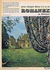 Publicité Advertising 106 1961 Romanex de Boussac rideaux tentures