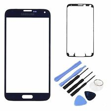 Blue Replacement Front Screen Glass Lens for Samsung Galaxy SM-G900 S5 SV i9600
