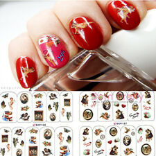 1 Big Sheet Nail Art Water Decals Sticker Virgin Mary Thanksgiving Angel Pattern