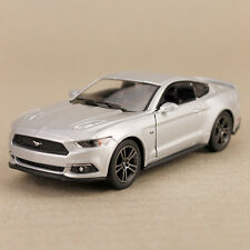 2015 Silver Ford Mustang GT Sports Car Collectible Model Detailed 1:38 Die-Cast