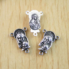 10pcs  Tibetan Silver mother and son religious 3holes connector Findings H1105