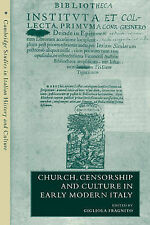 Church, Censorship and Culture in Early Modern Italy Fragnito, Gigliola (Editor)