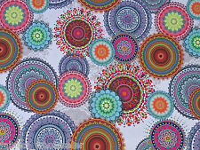 Paisley flowers Indian theme cotton upholstery bedroom curtains cushions fabric