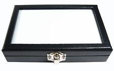 FREE SHIPPING TOP GLASS DISPLAY BOX SHOW CASE JEWELRY GEMS DIAMOND COIN 10x15 cm