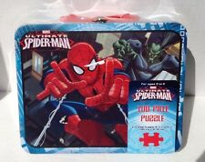"""Marvel """"ULTIMATE SPIDERMAN"""" 100 piece puzzle in a metal Pressman lunch box - NEW"""