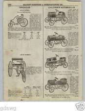 1922 PAPER AD 2 PG American National Pedal Car Packard Pierce