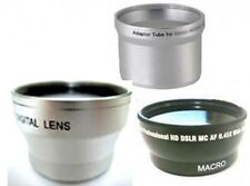 Wide Lens + Tele Lens + Tube bundle for Olympus C-750 C-760 C-765 C-770 SP-500