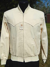 NOS Vtg HBarC California Men ROCKABILLY Jacket Cowboy Western VLV RICKY Coat S