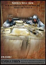 1/35 Scale Resin kit  WW2 German Stug panzer tank crew - military model kit