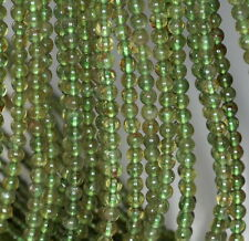4.5MM PEDORETES PERIDOT GEMSTONE GREEN ROUND 4-5MM LOOSE BEADS 16""