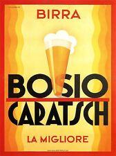 Pubblicità alcool BIRRA BOSIO CARATSCH ITALIA VINTAGE poster art print 777pylv