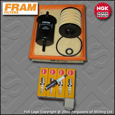 SERVICE KIT PEUGEOT 206 1.4 8V TU3JP FRAM OIL AIR FUEL FILTERS PLUGS (2004-2007)