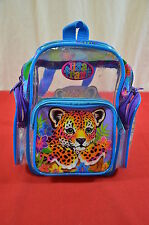 Vintage Small Lisa Frank Backpack Leopard Clear See Through  900