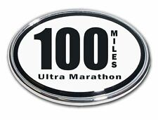 100 Miles Ultra Marathon Chrome Plated Car Auto Truck Emblem Made in the USA NEW