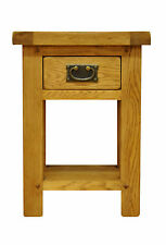 SOLID OAK SIDE TABLE 40cm x 32cm x 55cm FREE DELIVERY