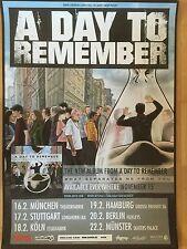 A DAY TO REMEMBER 2015 TOUR  - orig.Concert Poster  --  Konzert Plakat  A1 NEU