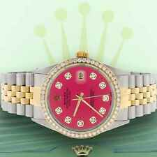 Rolex Datejust 2-Tone Gold/Steel 36mm Jubilee Watch Hot Pink Diamond Dial/Bezel