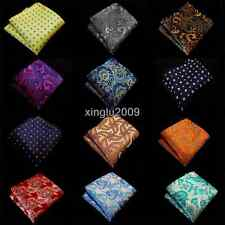 150Color Lot 15 Pcs Mens Silk Pocket Square Floral Handkerchief Checks Hanky 10""