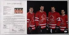 ✔ JSA 2010 Olympics Hockey Team Canada 4 Players Hand Autographs Photo w/ COA!