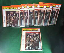 KISS 1976 TOUR POSTER PUT-ON STICKERS WHOLESALE LOT OF 10 NEAR MINT SEALED