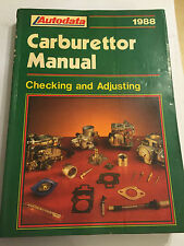 AUTODATA CARBURETTOR MANUAL SOLEX ZENITH PIERBURG FORD WEBER GM SU AISAN 1978-88