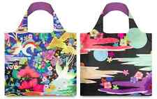 Japanese Designer 2sided Shopping BAG & POUCH Eco FOLDABLE Reusable Chic LOQI