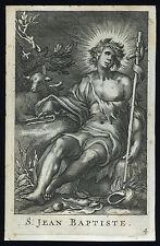 santino incisione 1700 S.GIOVANNI BATTISTA