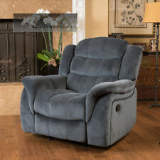Grey Fabric Recliner Glider Lazy Chair Reclining Seat Living Room Furniture Boy
