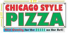 CHICAGO STYLE PIZZA Giant Size All Weather Banner Sign