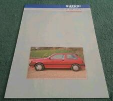 1986 1987 RGA SUZUKI BODYSTYLING - SWIFT 3 DOOR + SJ 410 413 4x4 - UK BROCHURE