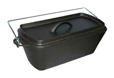Cast Iron Stock Pot Dutch Oven Loaf Tin Stew Pot Camping Stove Pot