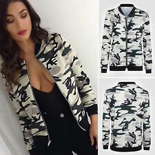 Fashion Women's Ladies Floral Print Slim Tops Blazer Cardigan Jacket Bomber Coat