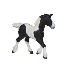 Papo 51508 Irish Cob Black Pinto Horse Foal Model Gypsy Vanner - NIP