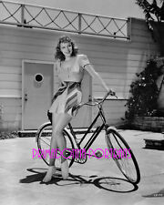 CLAIRE DODD 8X10 Lab Photo 1930s Graceful Bicycle Beauty Movie Star Portrait