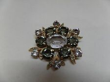 CATHERINE POPESCO FRANCE Signed Gray & Clear Crystal Brooch! Stunning!
