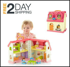 Doll Houses For Toddlers Kids Smart Home With Sounds Kindergarten Learning Toys