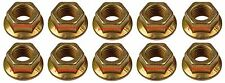 10mm Exhaust Manifold Flange Lock Nuts 433-310 for Toyota M10x1.25 Pack of 10