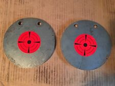 (2)pc. 1/2 INCH X 6 5/8 INCH PISTOL/RIFLE METAL SHOOTING TARGETS