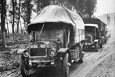 WW1 - Camions sur la Voie Sacrée en 1917