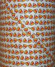 "5 YARDS 3/8"" HALLOWEEN CANDY CORN CUTIE GROSGRAIN RIBBON 4 HAIRBOW BOW"