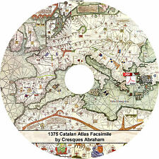 1375 Catalan Atlas by Cresques Abraham - 6 Map Leaves on CD