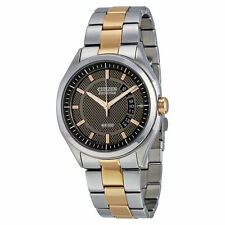 Citizen Men's AW1146-55H Date Watch Stainless & Rose Gold Tone Bracelet Watch