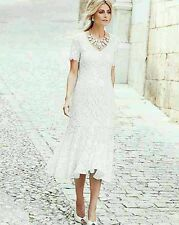 A BRAND NEW JOANNA HOPE  IVORY STRETCH  LACE DRESS UK SIZE 14 EU42 US10 L43